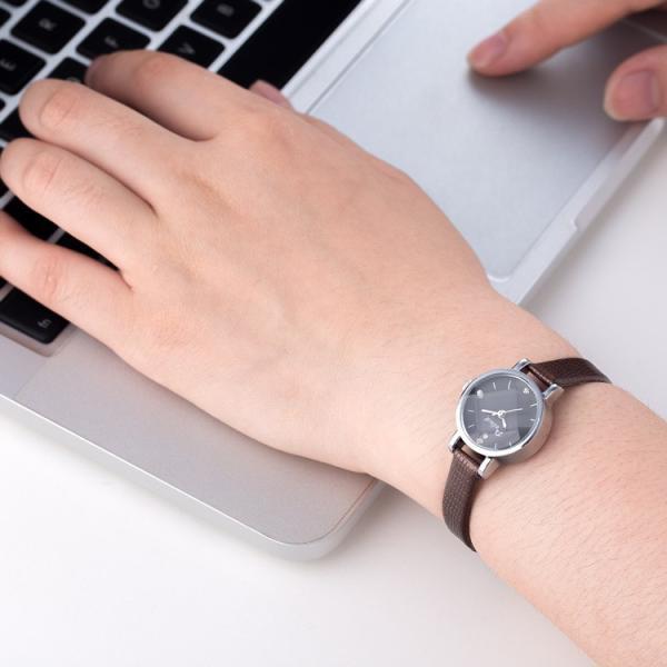 腕時計 ウォッチ 女性 レディース フェイクレザー フェミニン 華奢 細身 シンプル エレガント ゴールド シルバー mignonlindo 17
