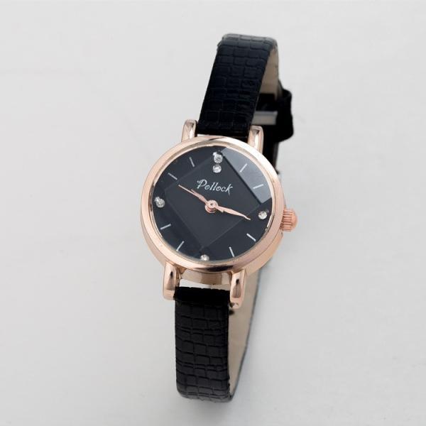 腕時計 ウォッチ 女性 レディース フェイクレザー フェミニン 華奢 細身 シンプル エレガント ゴールド シルバー mignonlindo 18