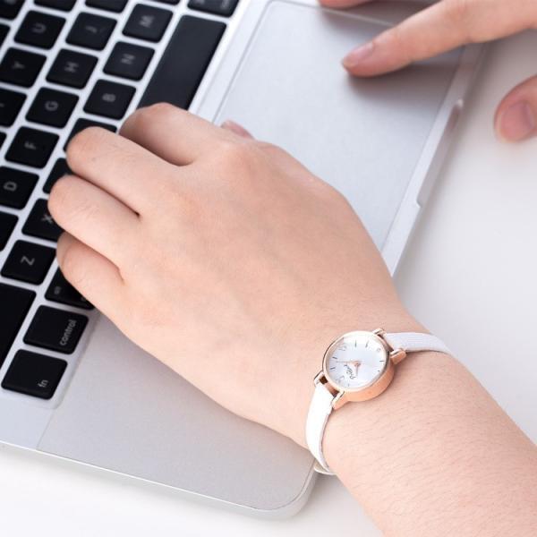 腕時計 ウォッチ 女性 レディース フェイクレザー フェミニン 華奢 細身 シンプル エレガント ゴールド シルバー mignonlindo 08