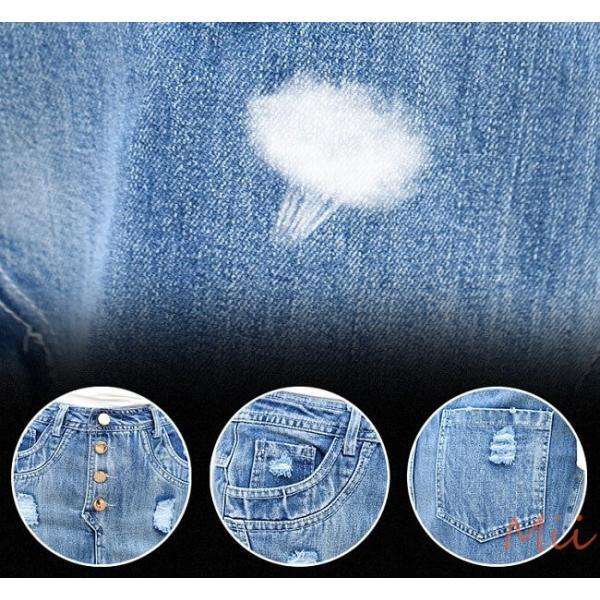 デニムスカート マキシ丈 ロング丈 マーメイドスカート 大きいサイズ 花柄 レース おしゃれ シースルー miistore 10
