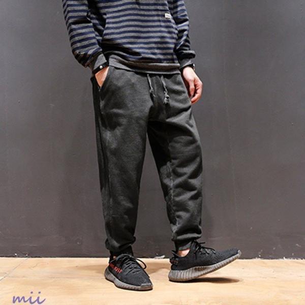 ジョガーパンツ イージーパンツ サルエルパンツ メンズ サルエル スウェット パンツ ロングパンツ メンズ スウェットパンツ ロングパンツ miistore 03