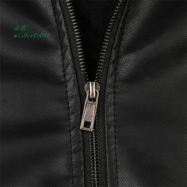 ライダースジャケット 防風 アウター バイクウェア メンズ 立ち襟 ブルゾン レザージャケット ジャケット 防寒|miistore|11