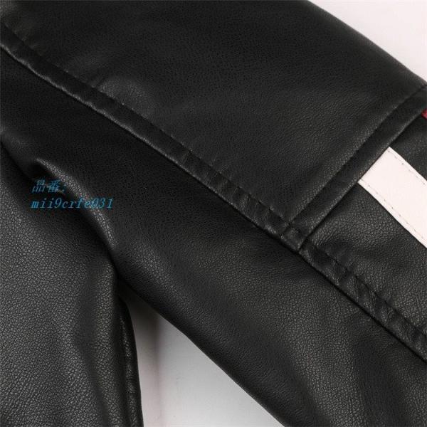 ライダースジャケット 防風 アウター バイクウェア メンズ 立ち襟 ブルゾン レザージャケット ジャケット 防寒|miistore|13