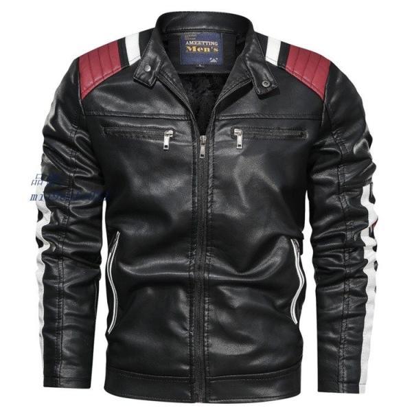 ライダースジャケット 防風 アウター バイクウェア メンズ 立ち襟 ブルゾン レザージャケット ジャケット 防寒|miistore|06