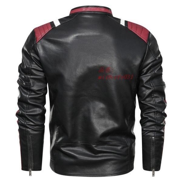 ライダースジャケット 防風 アウター バイクウェア メンズ 立ち襟 ブルゾン レザージャケット ジャケット 防寒|miistore|08