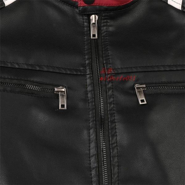ライダースジャケット 防風 アウター バイクウェア メンズ 立ち襟 ブルゾン レザージャケット ジャケット 防寒|miistore|10