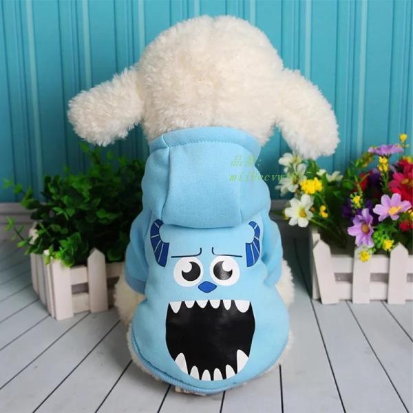 冬 漫画ペット犬服フレンチブルドッグチワワセーターコート小型犬パグパーカーペット猫 服 グループ上 ホーム ガーデン から 犬用 コート ジャケット 中|miistore|05