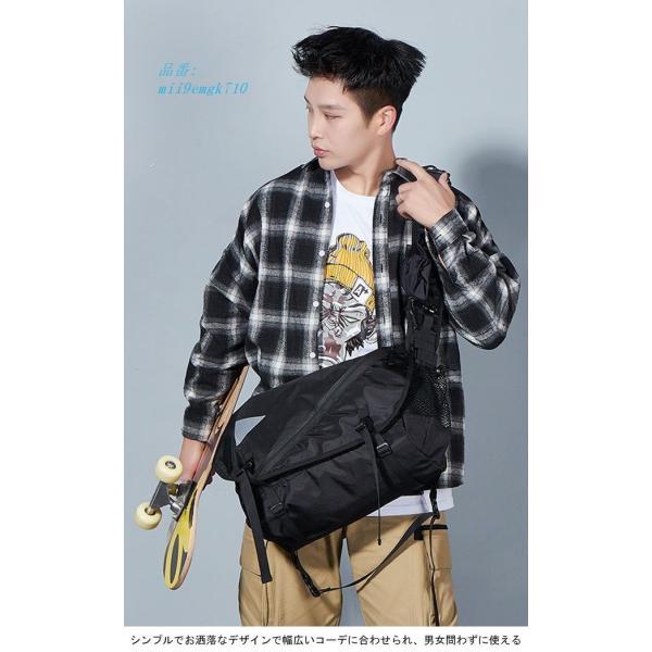 ボディバッグ ショルダーバッグ A4サイズ対応 カバン ウエストバッグ メンズ 大容量 お洒落 男女兼用 バッグ レディース 便利 ヒップバッグ|miistore|03