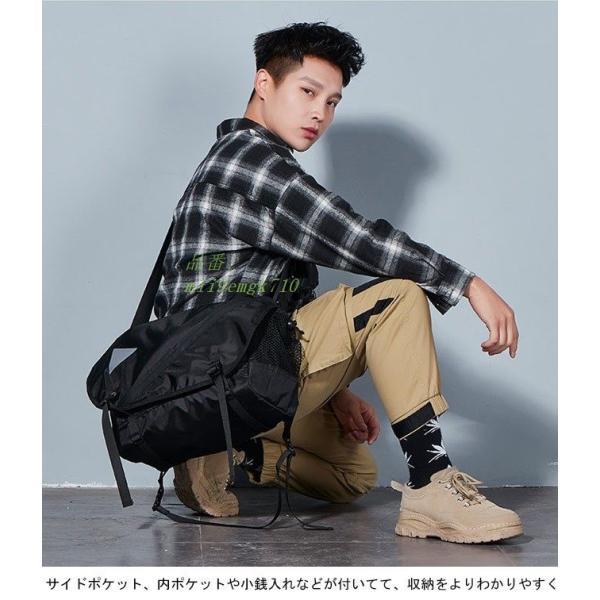 ボディバッグ ショルダーバッグ A4サイズ対応 カバン ウエストバッグ メンズ 大容量 お洒落 男女兼用 バッグ レディース 便利 ヒップバッグ|miistore|04