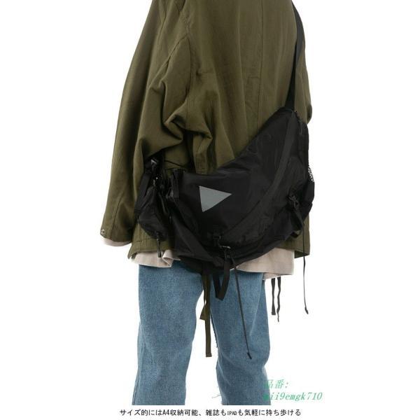 ボディバッグ ショルダーバッグ A4サイズ対応 カバン ウエストバッグ メンズ 大容量 お洒落 男女兼用 バッグ レディース 便利 ヒップバッグ|miistore|06