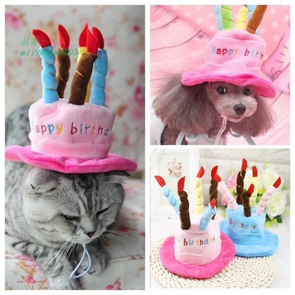 犬帽子かわいいペット猫誕生日キャップ小型犬チワワテディおかしいキャップペット子犬帽子用品 グループ上 ホーム ガーデン から 犬用キャップ 中|miistore