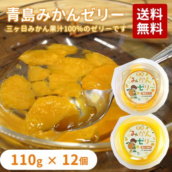 青島みかんゼリー 118g×12個入り 果汁100%ゼリー×6個・果肉ゼリー×6個 送料無料