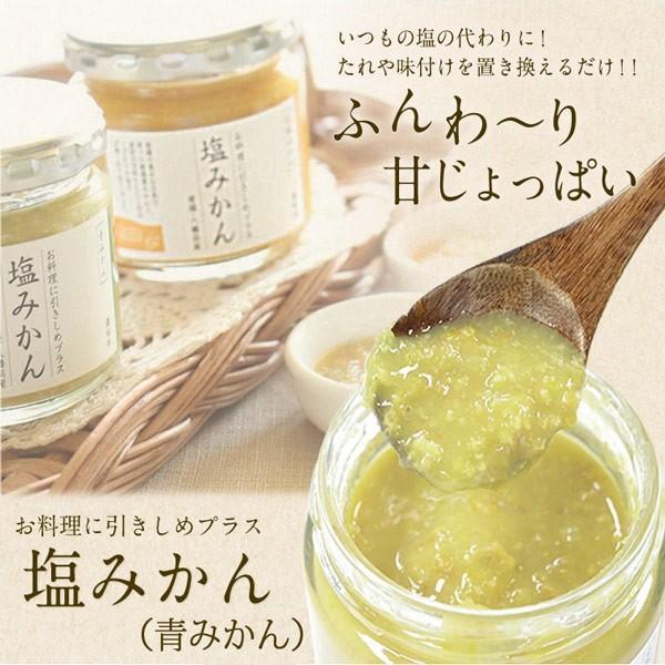 お料理に引きしめプラス調味料 塩みかん(青みかん) 容量:150g Mart掲載商品 mikan-hana