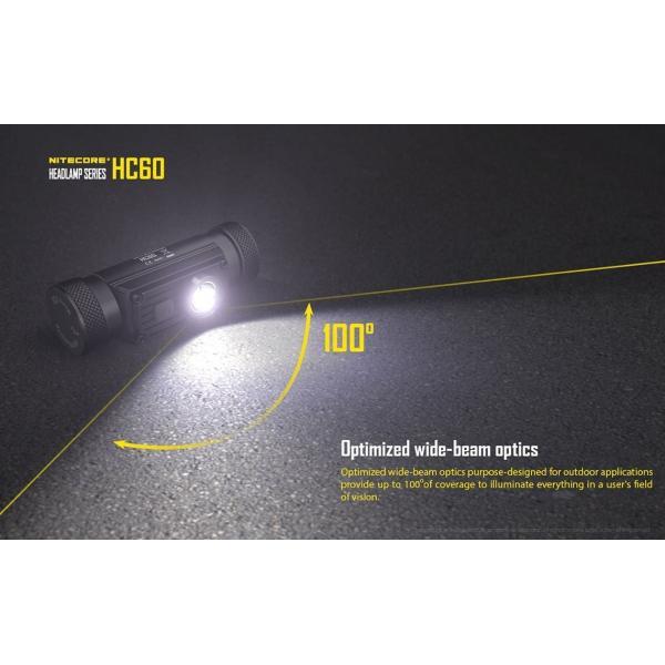 NITECORE HC60 ヘッドライトCREE XM-L2 U2 白色LED搭載 / 明るさMAX1000ルーメン