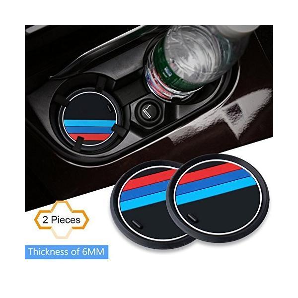 S-WEKA 2PCS Mラインカーインテリアアクセサリーアンチスリップカップマット 適用車種:BMW 1 3 5 7シリーズ F30 F3|mikannnnnn