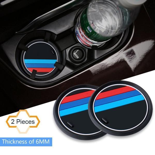 S-WEKA 2PCS Mラインカーインテリアアクセサリーアンチスリップカップマット 適用車種:BMW 1 3 5 7シリーズ F30 F3|mikannnnnn|02