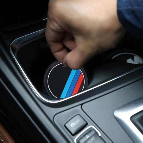 S-WEKA 2PCS Mラインカーインテリアアクセサリーアンチスリップカップマット 適用車種:BMW 1 3 5 7シリーズ F30 F3|mikannnnnn|03