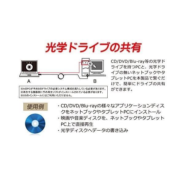 サイズ 繋いで光学ドライブ・マウスキーボード共有ケーブル USBリンクケーブル SCY-USBDLC03 mikannnnnn 08