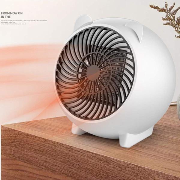 oenbopo ファンヒーター 3秒速熱 智能過熱保護 ミニ足元ヒーター 省エネルギー キッチン 脱衣所 オフィスなどに (03)