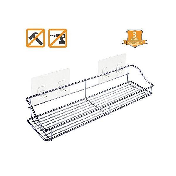 Sendida 浴室用ラック - バスルームラック ステンレス鋼SU304バスルーム掛けラック、防錆、防水、バスルームラック、釘なし、バスル|mikannnnnn|06