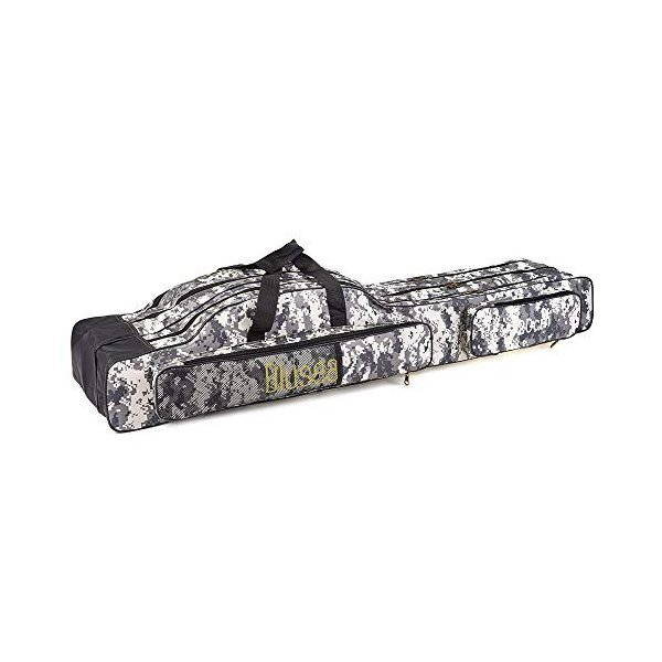LIXADA ロッドケース 釣竿ケース フィッシングバッグ 釣りロッド  大容量 竿袋 カモフラージュ 150cm|mikannnnnn|03