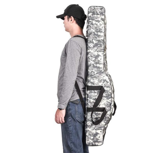 LIXADA ロッドケース 釣竿ケース フィッシングバッグ 釣りロッド  大容量 竿袋 カモフラージュ 150cm|mikannnnnn|04