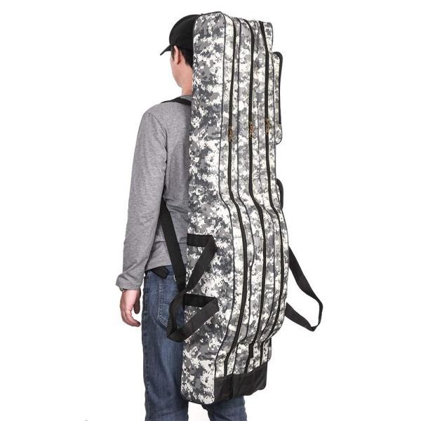 LIXADA ロッドケース 釣竿ケース フィッシングバッグ 釣りロッド  大容量 竿袋 カモフラージュ 150cm|mikannnnnn|06