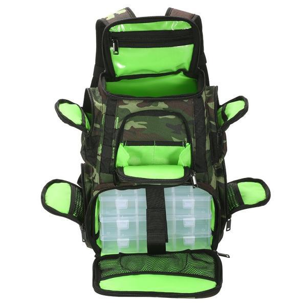 Lixada 釣りタックルバッグ,釣り用バッグ,4つの釣りタックルボックス付き 釣り道具収納バッグ 大容量 軽量性 釣り/船釣り/海釣り (