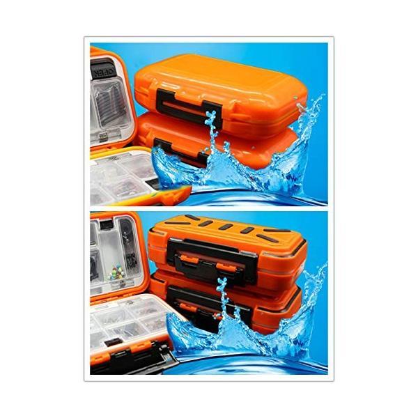 釣り針おもりサルカン仕掛け小物入れ タフな 万能 耐久性 抜群 防水 ケース SD、CFカード、ネジ、ワッシャーナット、釣り針 おもり サル