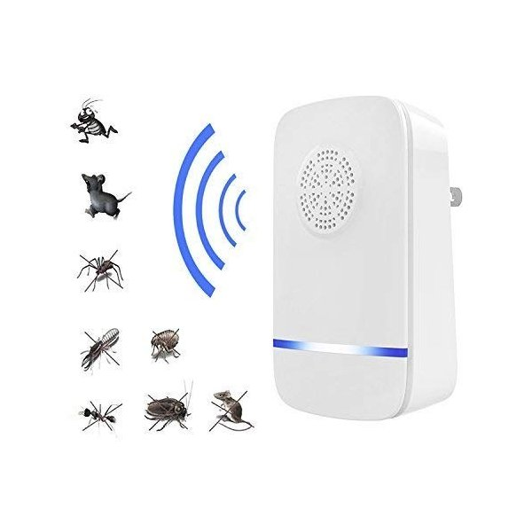 超音波式 虫除け器 ネズミ/ゴキブリ/ハエ/蚊/アリ/クモに対応 超音波式害虫駆除機 エコ 省エネ 多機能 コンセント式 害虫駆除器 無毒|mikannnnnn