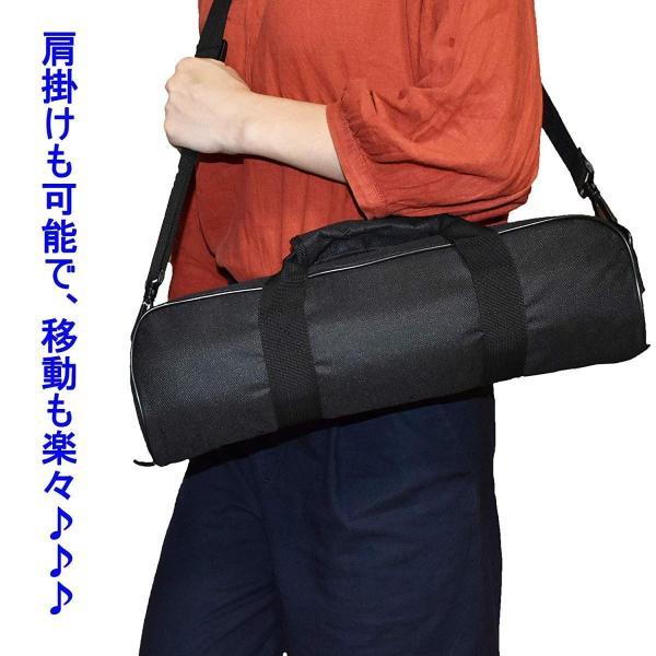 AORO 三脚・一脚用ケース バッグ クッション入り 耐衝撃 防塵 やすい開け閉め ポケットも付き 2倍厚クッション 撮影機材収納 カメラ mikannnnnn 06
