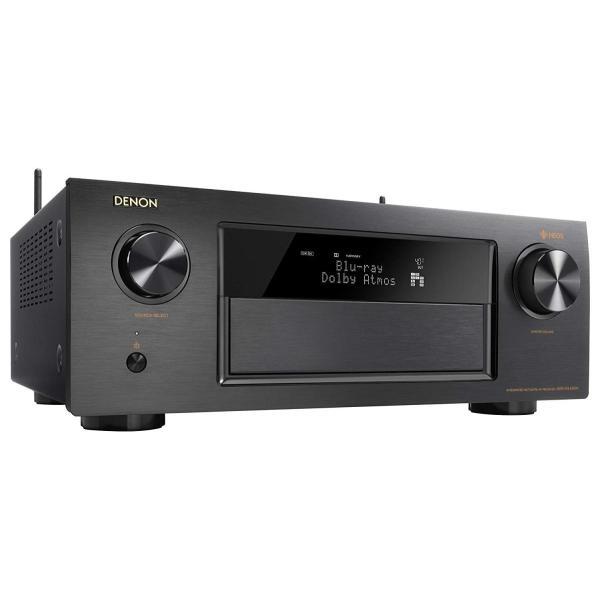 DENON AVレシーバー Auro-3D・Dolby Atmos・DTS:X/HEOS機能/ハイレゾ音源対応/ HDCP2.2 ブラック