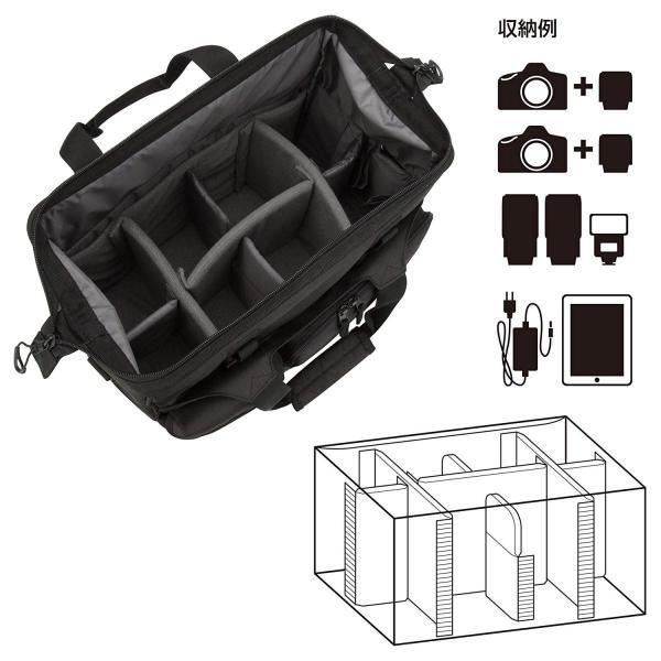 HAKUBA カメラバッグ ルフトデザイン スウィフト 03 ショルダーバッグ L 13.5L 大開口ガマぐち式 ブラック SLD-SW03|mikannnnnn|02