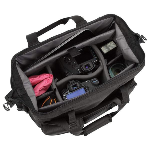 HAKUBA カメラバッグ ルフトデザイン スウィフト 03 ショルダーバッグ L 13.5L 大開口ガマぐち式 ブラック SLD-SW03|mikannnnnn|11