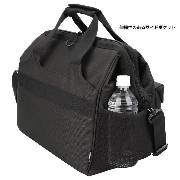 HAKUBA カメラバッグ ルフトデザイン スウィフト 03 ショルダーバッグ L 13.5L 大開口ガマぐち式 ブラック SLD-SW03|mikannnnnn|03