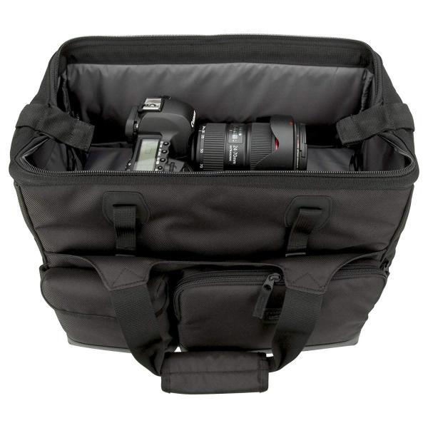HAKUBA カメラバッグ ルフトデザイン スウィフト 03 ショルダーバッグ L 13.5L 大開口ガマぐち式 ブラック SLD-SW03|mikannnnnn|04