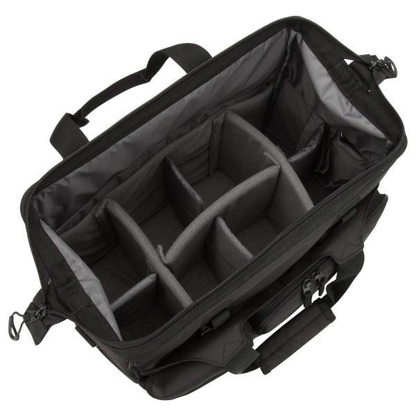 HAKUBA カメラバッグ ルフトデザイン スウィフト 03 ショルダーバッグ L 13.5L 大開口ガマぐち式 ブラック SLD-SW03|mikannnnnn|07