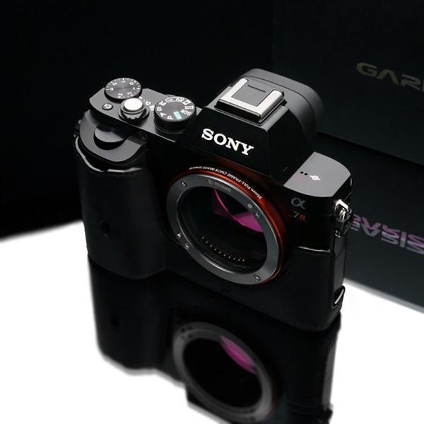 GARIZ SONY α7(7S/7R)用 本革カメラケース Gun Shot Ring付 XS-CHA7BK ブラック