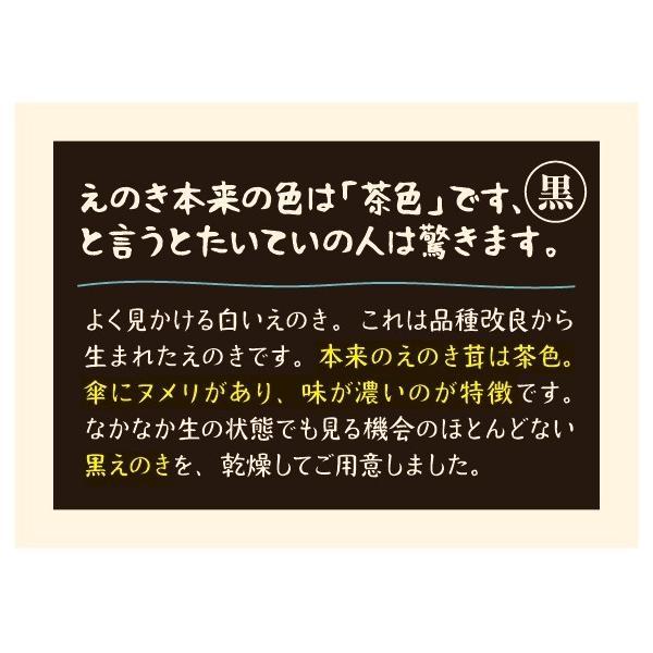濃い乾燥黒えのき 濃いえのきシリーズ(黒-原種)23g|mikasa-kinoko|05