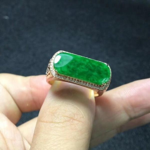 748 受注制作 18金ゴールド天然 A貨 馬鞍 コイン 翡翠 メンズ リング 指輪 ピンクゴールド ダイヤモンド ブレスレット ギフト お祝 お正月