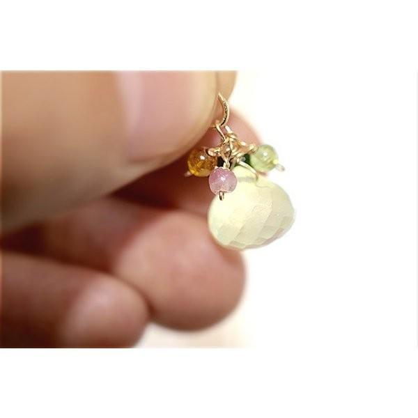 チェーン メダル プレナイト 葡萄石 14kgf 天然石 入園式 卒園式 お花見 アレルギー対応 結婚式  No.409