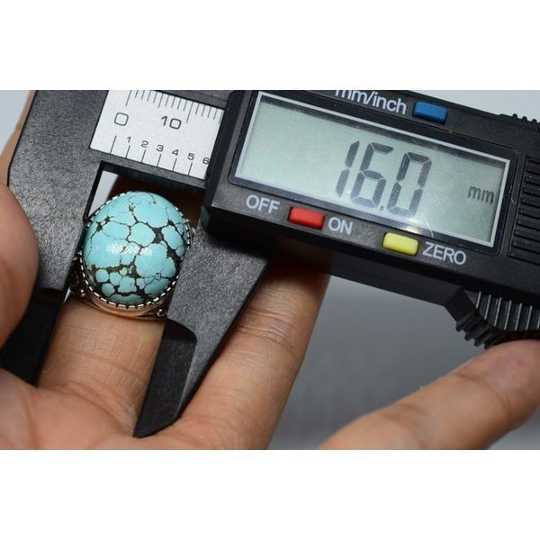 大粒本物天然トルコ石リング ターコイズ リング  シルバーリング  メンズリング 誕生日 プレゼント 12月誕生石 指輪 5240
