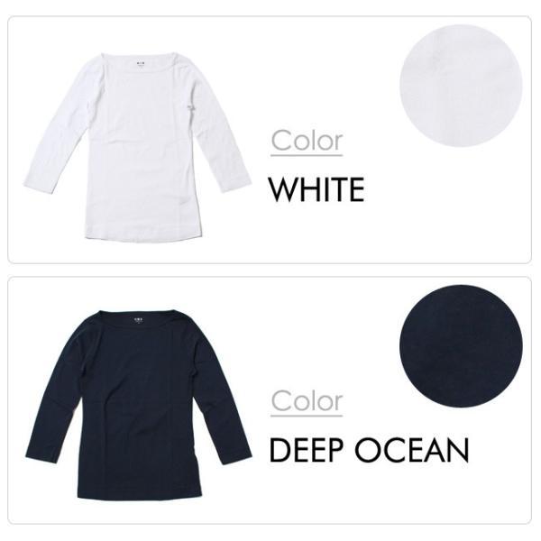 スリードッツ Three dots 7分袖 ボートネック Tシャツ カットソー レディース ジェシカ AA4W033|mike-museum|09