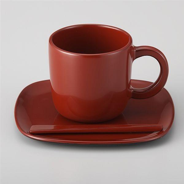 コーヒーカップ 還暦祝い 朱(桐箱入り)【美器穂留都】