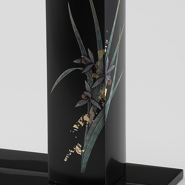 輪島塗 花器 蘭沈金 角型 桐箱入り (漆器・花瓶)|miki-holz|02