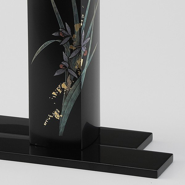 輪島塗 花器 蘭沈金 角型 桐箱入り (漆器・花瓶)|miki-holz|04