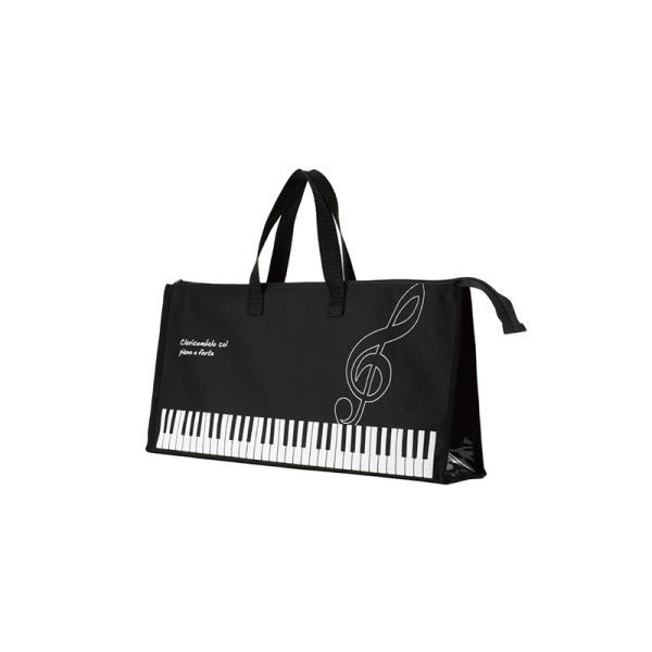 鍵盤ハーモニカ 収納バッグ (ト音記号) ピアニカ かばん バッグ 32鍵盤用