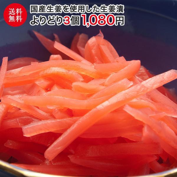 国産生姜漬 よりどり4個 送料無料 国産 生姜 しょうが ショウガ 紅生姜 甘酢|mikityannet