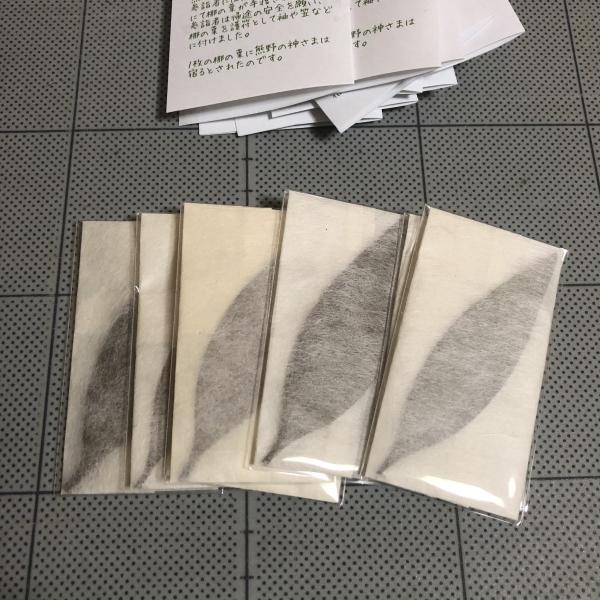 梛(ナギ)の押し葉、熊野紙包み(2枚セット)|mikumanonet|06