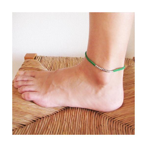 アンクレット 手にも足にもOK カラフルミサンガ ブレスレット 足輪 腕輪 KB34022
